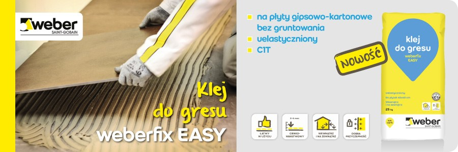 Klej do gresu weberfix easy